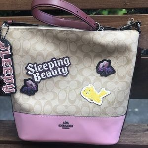 NWT Disney X Coach Sleeping  Beauty bag and charm